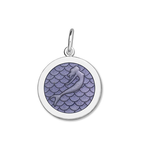 Lola mermaid pendant purple enamel medium