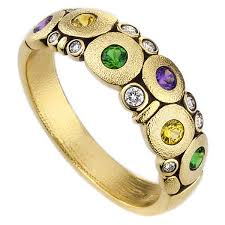 alex sepkus r-122s mardi gras sapphire candy dome ring diamond