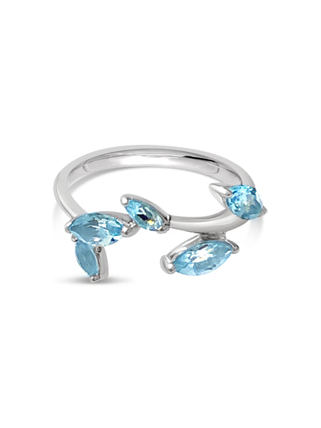 marquise blue topaz sterling silver ring