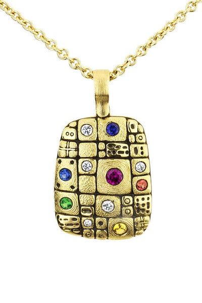 Old Pathway Pendant - 18k Gold/Rainbow Mix M-74