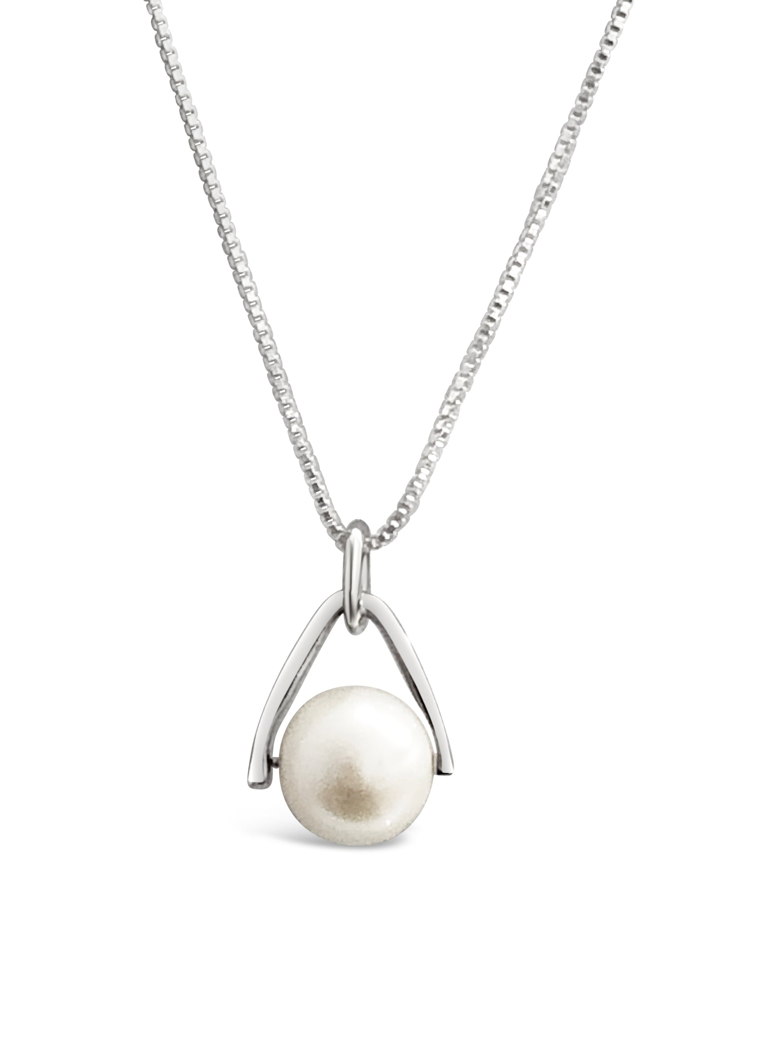 pearl pendant necklace 925 sterling silver freshwater pearl