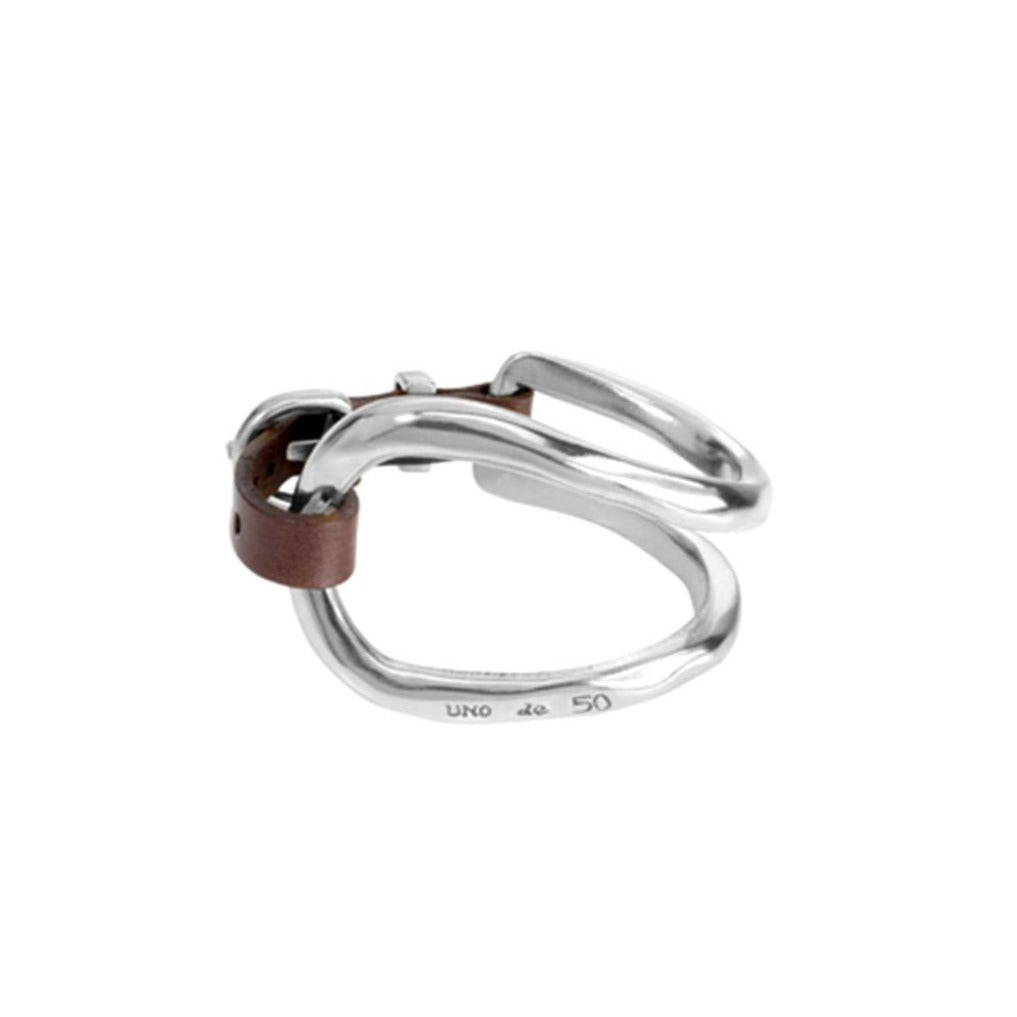 REF# PUL0228MTL000 Unode50 bracelet bite silver tone made in spain