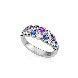 r-113ps blue purple sapphire mix alex sepkus dome ring