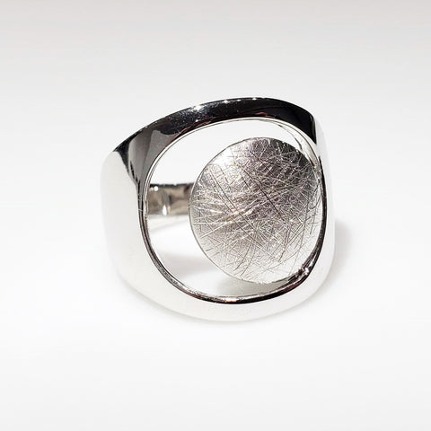 925 sterling silver dome ring handcrafted for Michael's Custom Jewelers in Provincetown