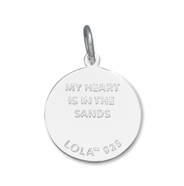 my heart is in the sands lola sand dollar pendant