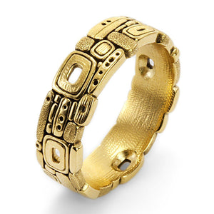 stone barn men's band alex sepkus r-169 yellow gold mens ring