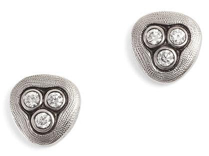 alex sepkus swirling water earrings platinum diamond E-75 PD