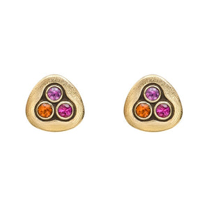 swirling water earrings alex sepkus studs color sapphire fire mix 18k gold