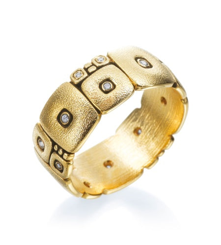 temple wall band alex sepkus r120 fashion gold diamond ring