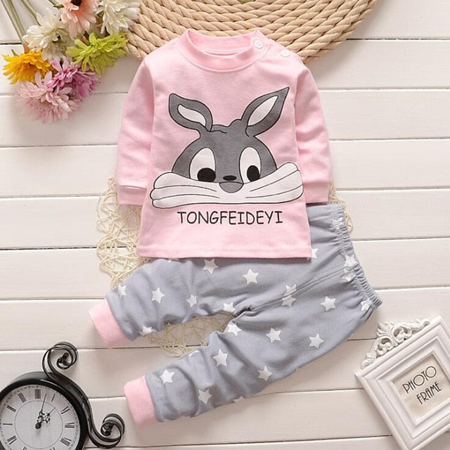 5b882a7ae056 Cotton Baby Girls Clothes Winter Newborn Baby Clothes Set 2PCS ...