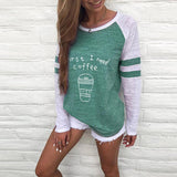 Pull Mode Firste I Need Cofee 100% Coton - Green / S