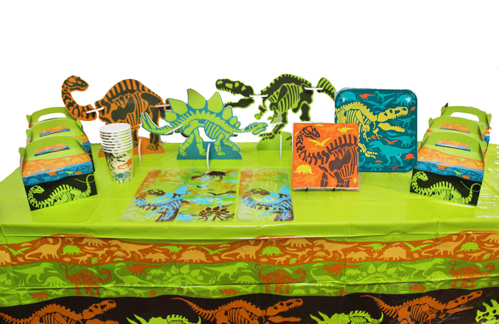 dinosaur party in a box, dinosaur party supplies, dinosaur party decorations, dinosaur birthday party