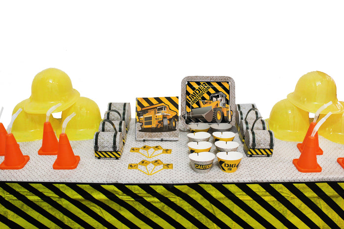 construction party, construction birthday party supplies, construction birthday party decorations, construction party, under construction party, dump truck birthday party