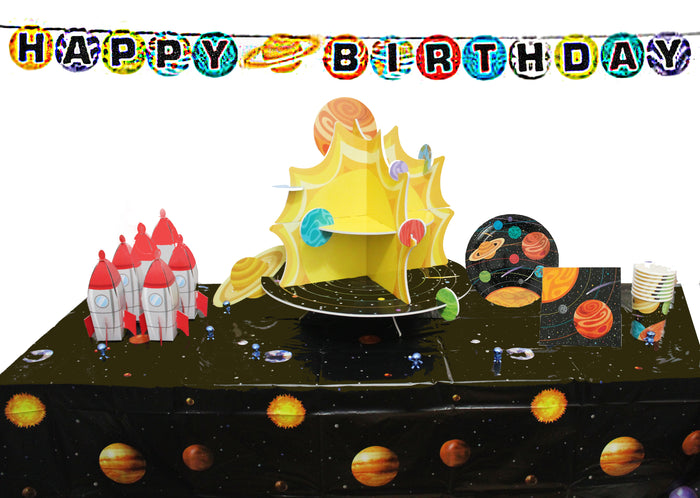outer space birthday party, space party, outer space party supplies, outer space party decorations