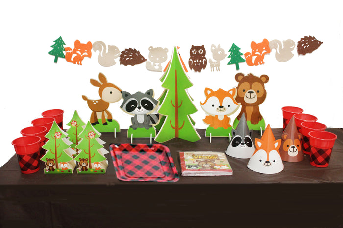Woodland Animals Themed Birthday Party Kit