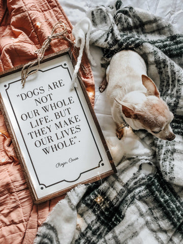 Dogs Are Not Our Whole Life But They Make Our Lives Whole, 10x16, dog, wood sign