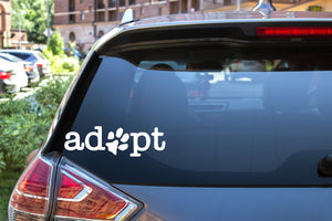 Adopt Paw Prints, 5 inch, animal, vinyl decal