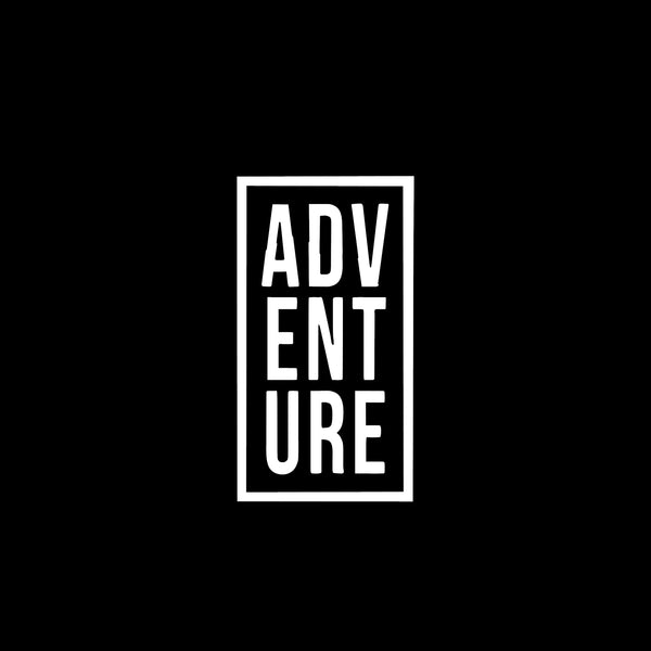 A D V E N T U R E, 5 inch, outdoor, vinyl decal