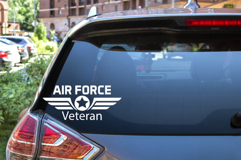 Air Force Veteran, 5 inch, military, vinyl decal