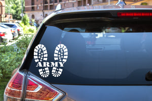 Army Boots, 5 inch, military, vinyl decal