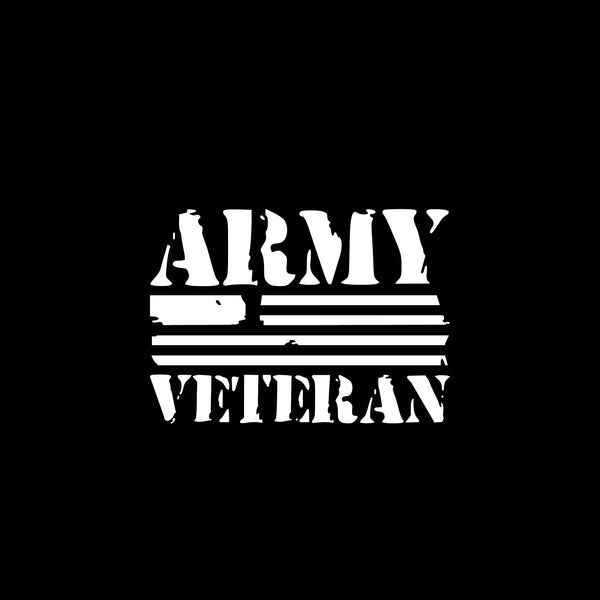 Army Veteran, 5 inch, military, vinyl decal