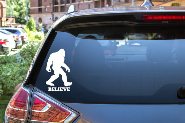 Bigfoot Believe, 5 inch, outdoor, vinyl decal