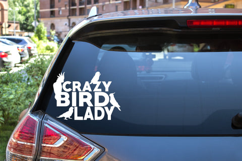 Crazy Bird Lady, 5 inch, animal, parrot, vinyl decal