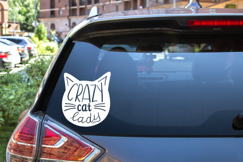 Crazy Cat Lady, 5 inch, animal, vinyl decal