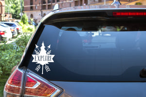 Explore Arrows & Trees, 5 inch, outdoor, vinyl decal