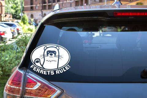Ferrets Rule!, 5 inch, animal, vinyl decal