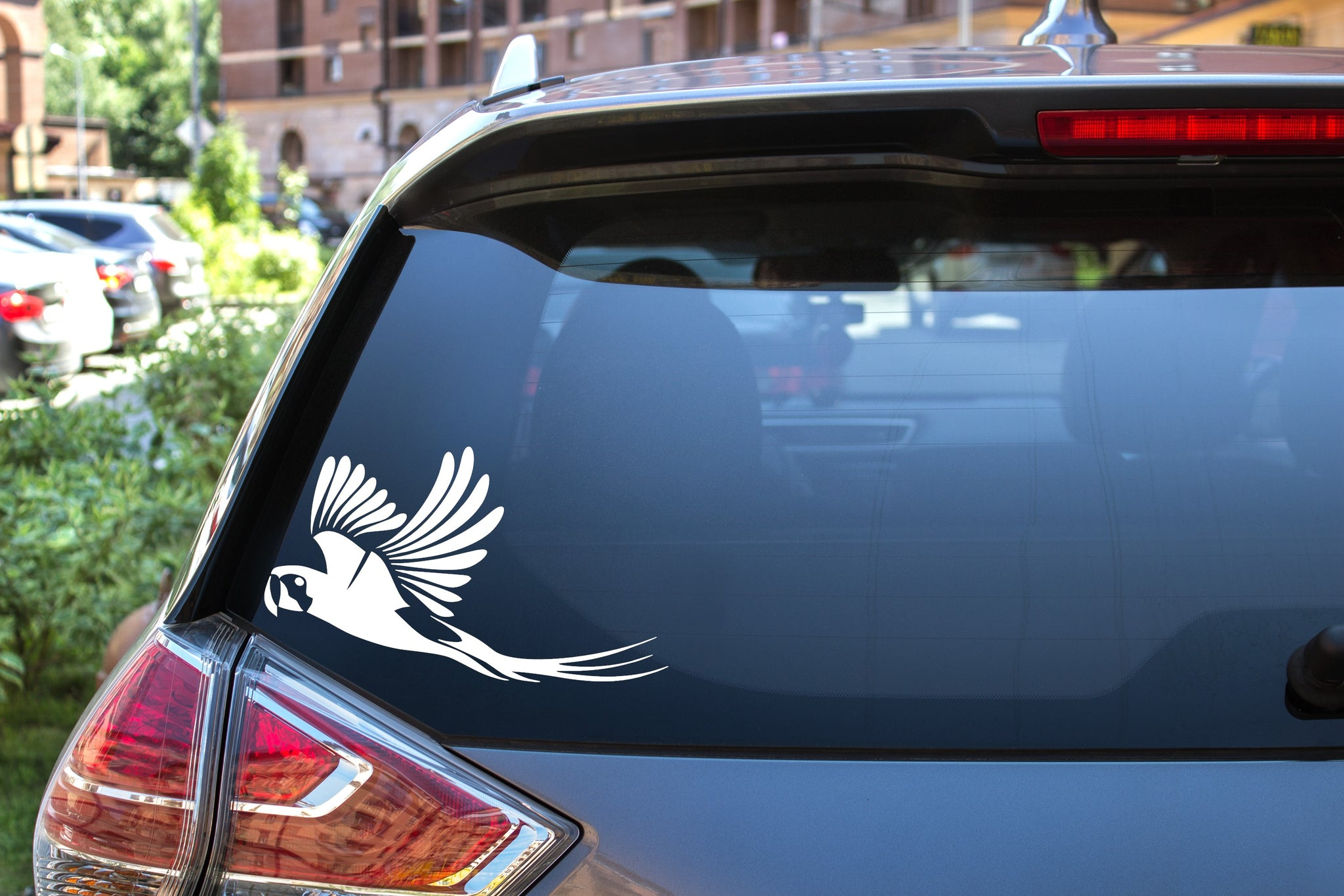 Flying Macaw, 5 inch, animal, parrot, vinyl decal