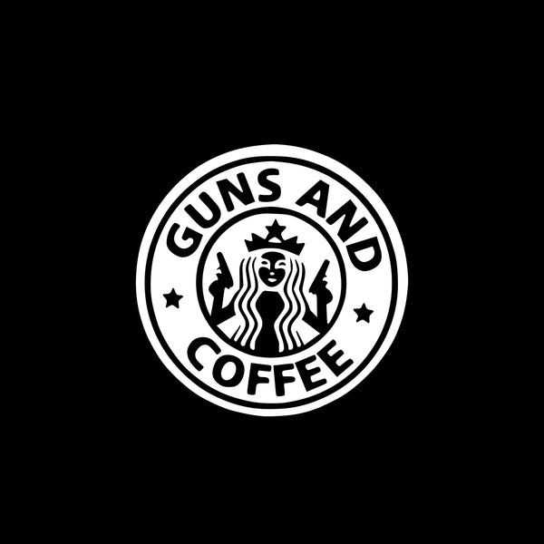 Guns & Coffee, 5 inch, vinyl decal