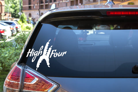 High Four, 5 inch, animal, parrot, vinyl decal