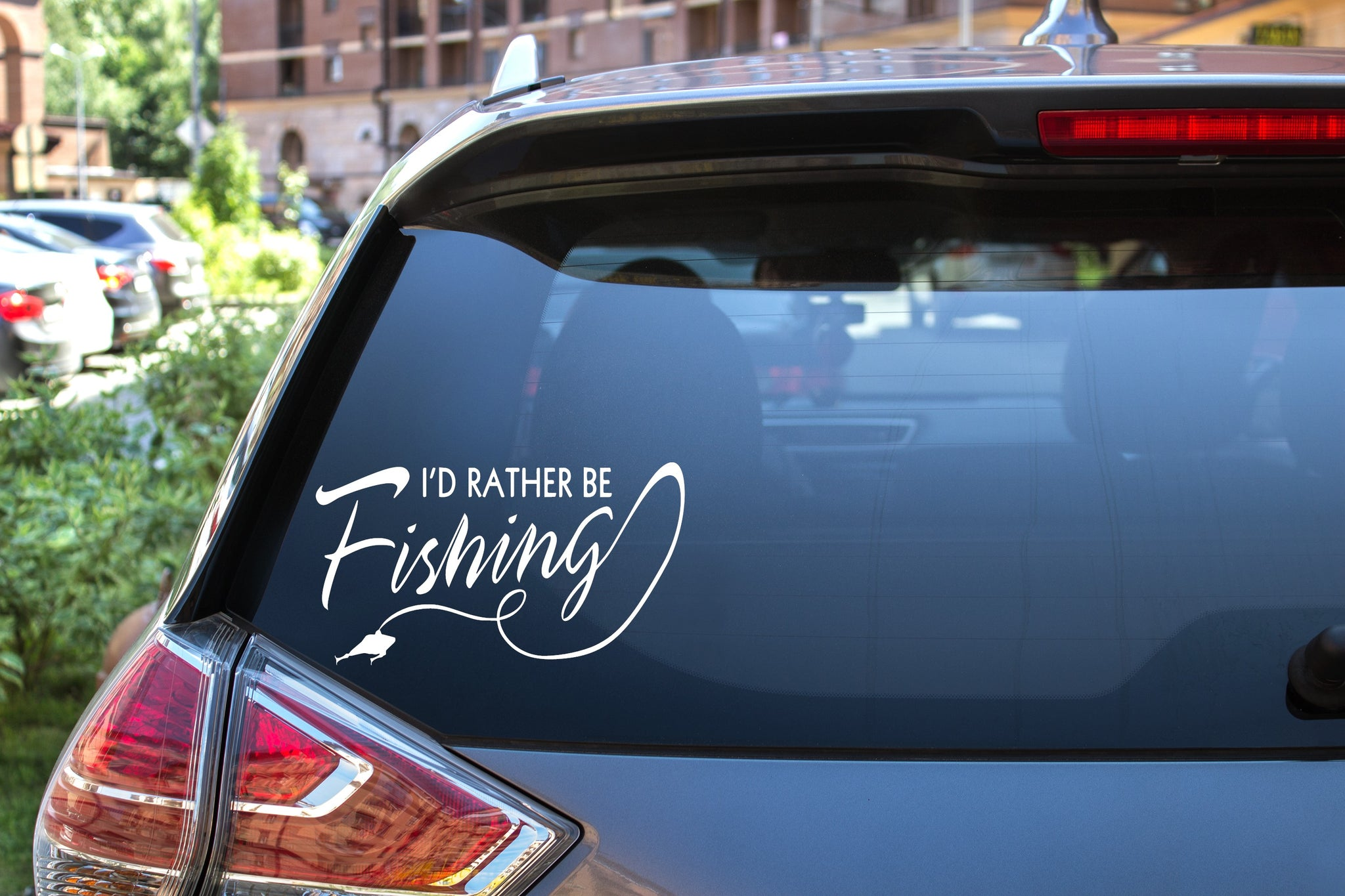 I'd Rather Be Fishing, 5 inch, outdoor, vinyl decal