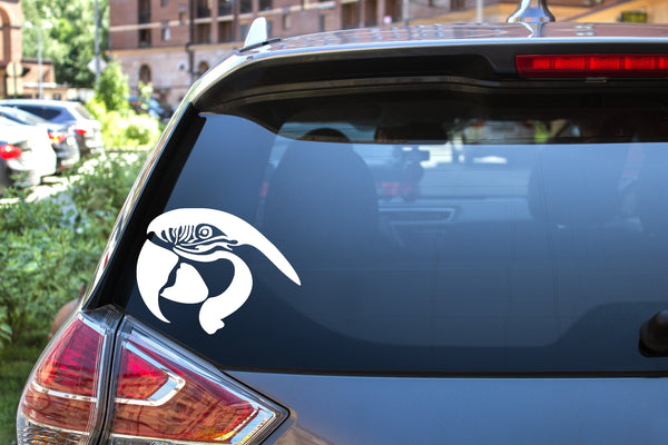 Macaw Head, 5 inch, animal, parrot, vinyl decal