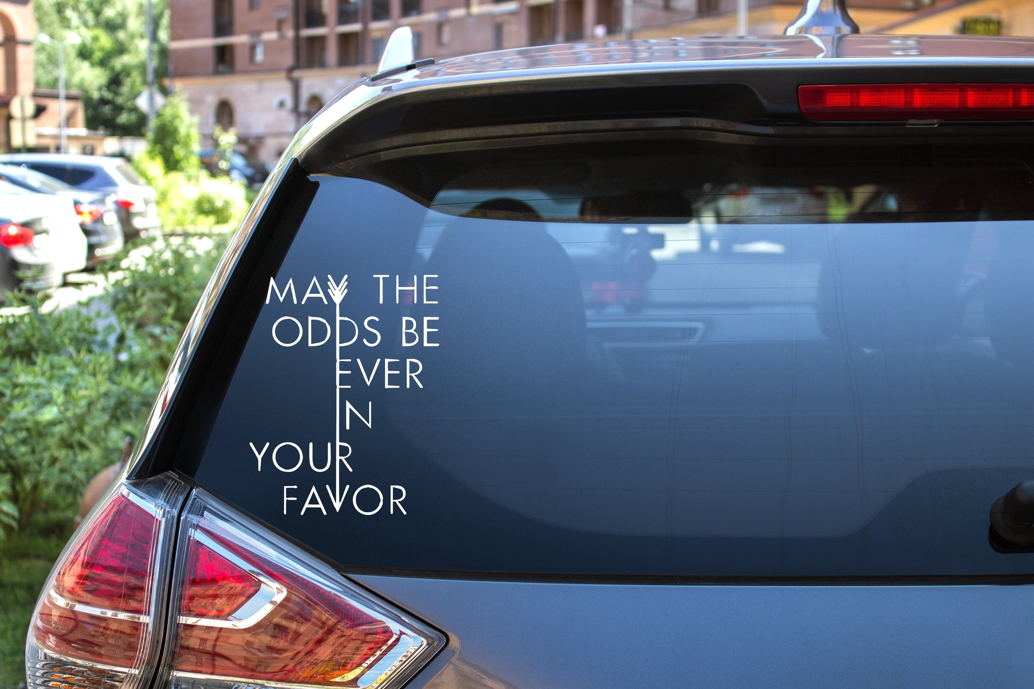 May The Odds Be Ever In Your Favor, Hunger Games, 5 inch, nerdy, vinyl decal