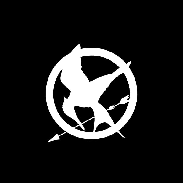Mockingjay Pin, Hunger Games, 5 inch, nerdy, vinyl decal