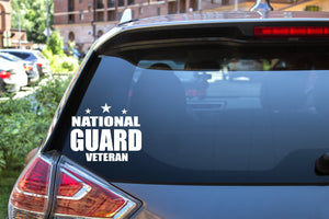 National Guard Veteran, 5 inch, military, vinyl decal
