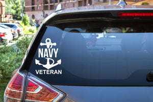 Navy Veteran, 5 inch, military, vinyl decal