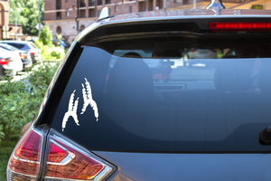 Parrot Feet, 5 inch, animal, parrot, vinyl decal