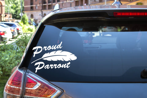 Proud Parront, 5 inch, animal, parrot, vinyl decal