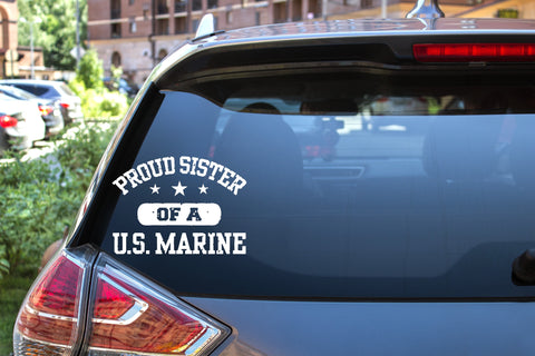 Proud Sister Of A U.S. Marine, 5 inch, military, vinyl decal