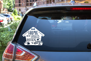 Home Of A Spoiled Rotten Dog, 5 inch, animal, vinyl decal