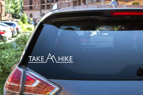 Take A Hike SM, 5 inch, outdoor, vinyl decal