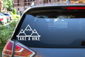 Take A Hike LG, 5 inch, outdoor, vinyl decal