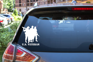 U.S. Veteran, 5 inch, military, vinyl decal