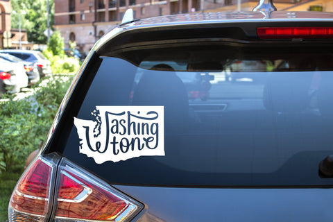 Washington State, 5 inch, outdoor, vinyl decal