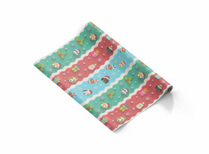 dog christmas wrapping paper