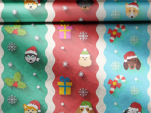 Load image into Gallery viewer, christmas dog wrapping paper
