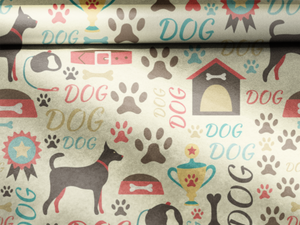 dog wrapping paper